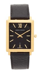 Larsson And Jennings Norse Large Strap Watch Gold Black
