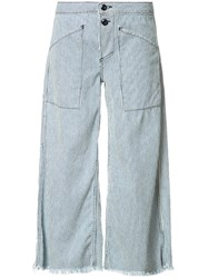 Nsf Striped Wide Legged Jeans Blue