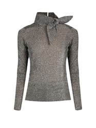 Isabel Marant Adil Knot Feature High Neck Sweater Silver