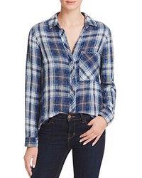 Bella Dahl Multi Stitch Button Down Plaid Shirt Calais Wash