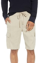Vince Stretch Linen And Cotton Cargo Shorts