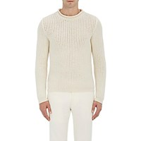 Ralph Lauren Purple Label Men's Cashmere Blend Mock Turtleneck Sweater Cream