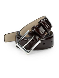 Hickey Freeman Brush Off Leather Belt Cordvan