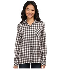 Rvca Jig 2 Top Black Women's Long Sleeve Button Up