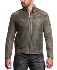 Affliction Iron Head Leather Jacket