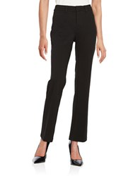 Lord And Taylor Petite Bootcut Ponte Pants Black