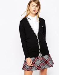 Fred Perry Classic Tipped Cardigan Black