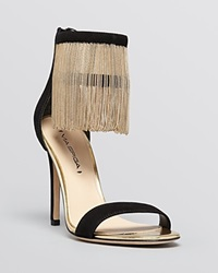 Via Spiga Open Toe Platform Evening Sandals Tolsa Ankle Fringe High Heel