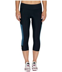 Pearl Izumi Escape Sugar Cycling 3 4 Tights Black Blue Steel Women's Clothing