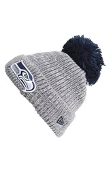 Men's New Era Cap 'Cuff Star Seattle Seahawks' Pompom Knit Beanie