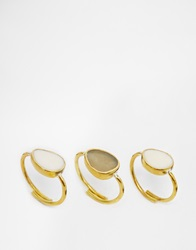 Made Stacking Multipack Rings Gold