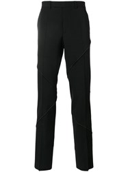 Christian Dior Homme Stitch Detail Trousers Black