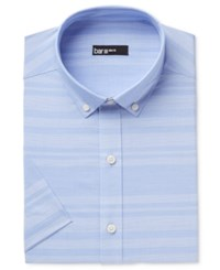 Bar Iii Men's Slim Fit Stretch Easy Care Short Sleeve Dress Shirt Only At Macy's Light Blue