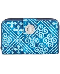Vera Bradley Rfid Turnlock Wallet Cuban Tiles
