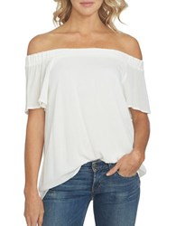 1.State Off The Shoulder Flounce Sleeve Blouse Cloud