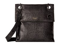 Hammitt Montana Rev Jet Black Gunmetal Cross Body Handbags