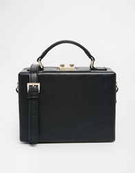 Asos Structured Box Handheld Bag Black