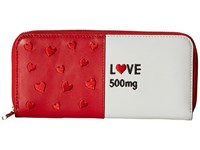 Alice Olivia Love Pill Long Wallet Red White Wallet Handbags