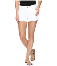 7 For All Mankind Cut Off Shorts In Clean White Clean White Women's Shorts