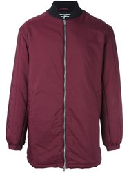 Mcq By Alexander Mcqueen Oversized Bomber Jacket Pink And Purple