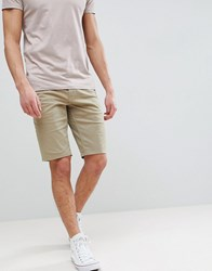 Boss Slim Fit Chino Shorts In Beige