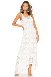 Mes Demoiselles Secret Crochet Maxi Dress Ivory