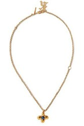 Christopher Kane Gold Tone Faux Pearl Necklace Gold