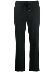 Les Copains Metallic Stripe Straight Leg Trousers Blue