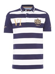 Howick Men's Warwick Stripe Short Sleeve Rugger White