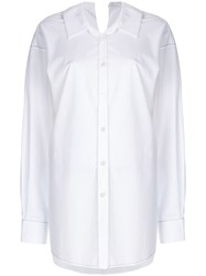 Marni Ovestitched Shirt White
