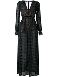 For Love And Lemons Polka Dot Maxi Dress Black