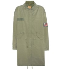 True Religion Cotton Blend Parka Green