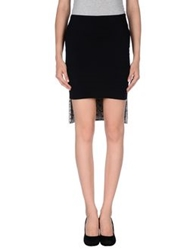 Space Style Concept Knee Length Skirts Black