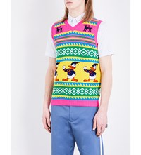 Gucci Donald Duck Knit Wool Gilet Multi