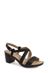 Women's Geox 'Symi' Sandal Black Leather