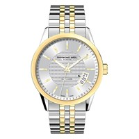 Raymond Weil 2770 Stp 65021 Men's Freelancer Two Tone Stainless Steel Bracelet Strap Watch Silver Gold