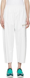 Maison Martin Margiela Off White Faux Leather Pants