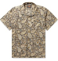 The Workers Club Camp Collar Printed Cotton Shirt Neutrals