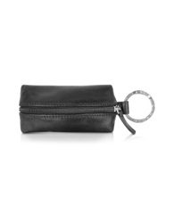 Giorgio Fedon Classica Black Calfskin Key Fob W Compartment