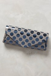 Anthropologie Polka Dotted Leather Wallet Silver