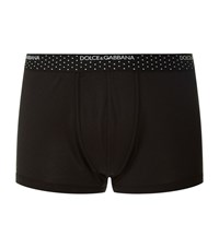 Dolce And Gabbana Polka Dot Trunks Male Black