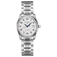 Longines L22574786 Women's Master Collection Automatic Date Bracelet Strap Watch Silver White