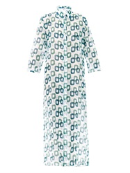 Laura Manara Ruby Chain Print Silk Long Kaftan