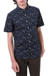 7 Diamonds Jungle Youth Trim Fit Short Sleeve Sport Shirt Navy