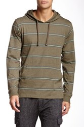 Micros Mountain Striped Hoodie Green
