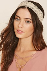 Forever 21 Faux Pearl Lace Headwrap