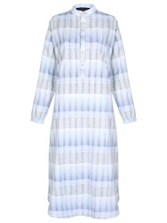 Lilly Sarti Plaid Midi Dress White