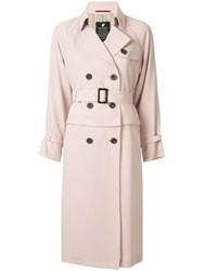 Loveless Pleated Panel Trench Coat Pink