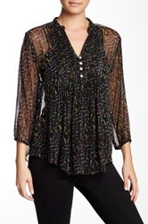 Casual Studio Fit And Flare Pleated Blouse Black
