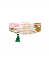 Panacea Pearl Beaded Stretch Bracelets Multi